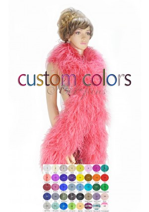 "20 plys full and fluffy Luxury Ostrich Feather Boa 71""long (180 cm) custom colors"