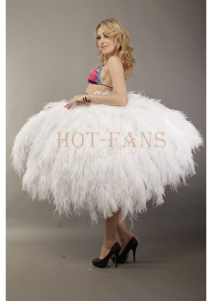 Custom color Luxury 4 Layers  Ostrich Feather Fan fluffy with Boa Opened 67'' Burlesque