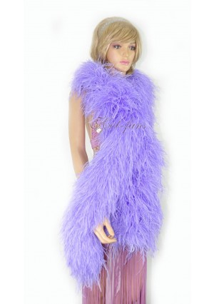 """Aqua violet 20 plys full and fluffy Luxury Ostrich Feather Boa 71""""long (180 cm)"""