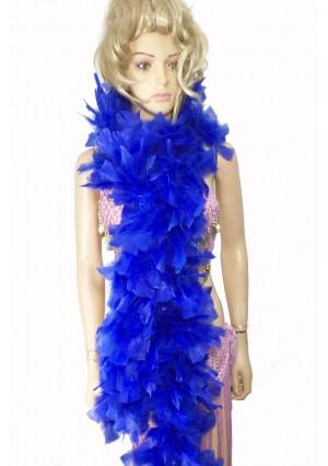 "ROYAL BLUE 71 ""LONG SOFT CHANDELLE TURKET FEATHER BOA SHOWGIRL DANCE FANCY DRESS"