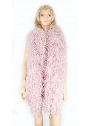 "10 plys beige wood Luxury Ostrich Feather Boa 71""long (180 cm)"