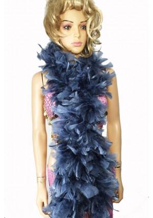 """GRAY 71 """"LONG SOFT CHANDELLE TURKET FEATHER BOA SHOWGIRL DANCE FANCY DRESS"""