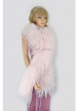"Blush 20 plys full and fluffy Luxury Ostrich Feather Boa 71""long (180 cm)"
