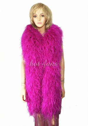 """Hot pink 20 plys full and fluffy Luxury Ostrich Feather Boa 71""""long (180 cm)"""