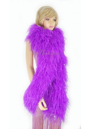 """Lavender 20 plys full and fluffy Luxury Ostrich Feather Boa 71""""long (180 cm)"""