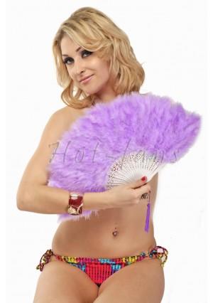 "lilac petite Marabou feather fan costumes Ladies Fancy Dress Wedding party 20"""