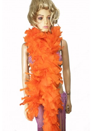 "ORANGE 71 ""LONG SOFT CHANDELLE TURKET FEATHER BOA SHOWGIRL DANCE FANCY DRESS"