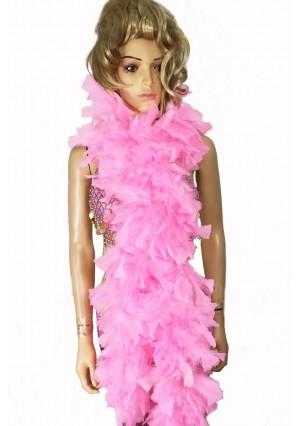 """PINK 71 """"LONG SOFT CHANDELLE TURKET FEATHER BOA SHOWGIRL DANCE FANCY DRESS"""