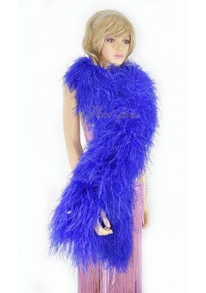 """Royal blue 20 plys full and fluffy Luxury Ostrich Feather Boa 71""""long (180 cm)"""