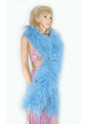 "10 plys sky blue Luxury Ostrich Feather Boa 71""long (180 cm)"