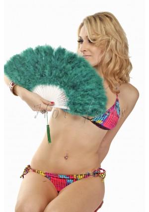 "Teal petite Marabou feather fan costumes Ladies Fancy Dress Wedding party 20"""