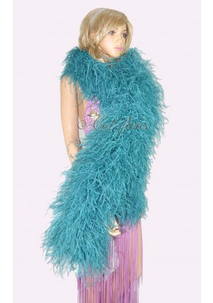 """Teal 20 plys full and fluffy Luxury Ostrich Feather Boa 71""""long (180 cm)"""