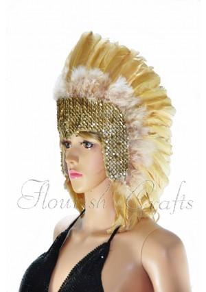 wheat feather sequins crown las vegas dancer showgirl headgear headdress