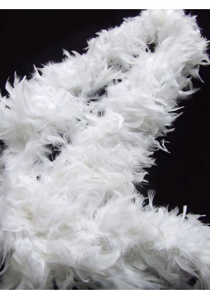 "WHITE 71 ""LONG SOFT CHANDELLE TURKET FEATHER BOA SHOWGIRL DANCE FANCY DRESS"