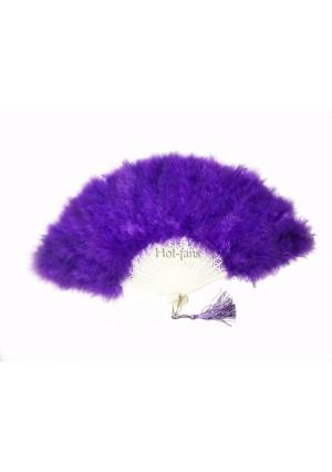 "violet petite Marabou feather fan costumes Ladies Fancy Dress Wedding party 20"""