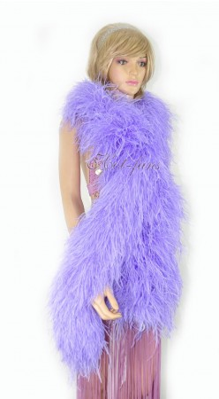 "Aqua violet 20 plys full and fluffy Luxury Ostrich Feather Boa 71""long (180 cm)"