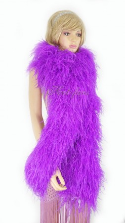 "Lavender 20 plys full and fluffy Luxury Ostrich Feather Boa 71""long (180 cm)"