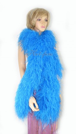 "turquoise 20 plys full and fluffy Luxury Ostrich Feather Boa 71""long (180 cm)"