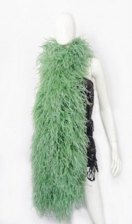 "12 ply jade Luxury Ostrich Feather Boa 71""long (180 cm)"