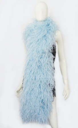 "12 ply light blue Luxury Ostrich Feather Boa 71""long (180 cm)"