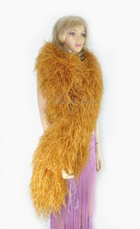 "Topaz 20 plys full and fluffy Luxury Ostrich Feather Boa 71""long (180 cm)"