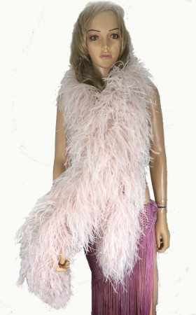 "10 plys blush Luxury Ostrich Feather Boa 71""long (180 cm)"