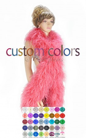 "20 ply full and fluffy Luxury Ostrich Feather Boa 71""long (180 cm) custom colors"