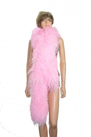 "12 ply pink Luxury Ostrich Feather Boa 71""long (180 cm)"