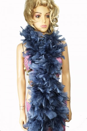 "GRAY 71 ""LONG SOFT CHANDELLE TURKET FEATHER BOA SHOWGIRL DANCE FANCY DRESS"
