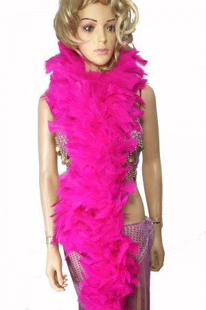 "HOT PINK 71 ""LONG SOFT CHANDELLE TURKET FEATHER BOA SHOWGIRL DANCE FANCY DRESS"