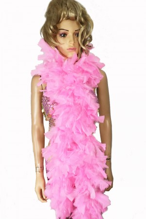 "PINK 71 ""LONG SOFT CHANDELLE TURKET FEATHER BOA SHOWGIRL DANCE FANCY DRESS"