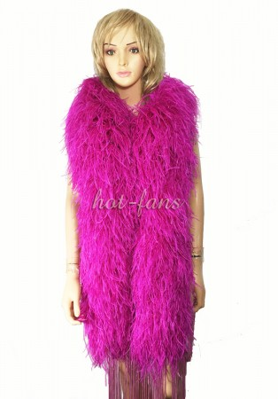 "Hot pink 20 plys full and fluffy Luxury Ostrich Feather Boa 71""long (180 cm)"