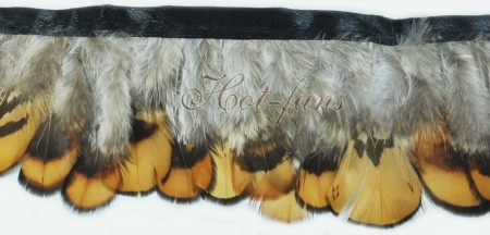 Pheasant Plumage Feather Fringe Trims 2 yards Perfect trimming costumes 012