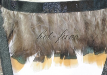 Pheasant Plumage Feather Fringe Trims 2 yards Perfect trimming costumes 002