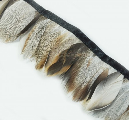 Pheasant Plumage Feather Fringe Trims 2 yards Perfect trimming costumes 011