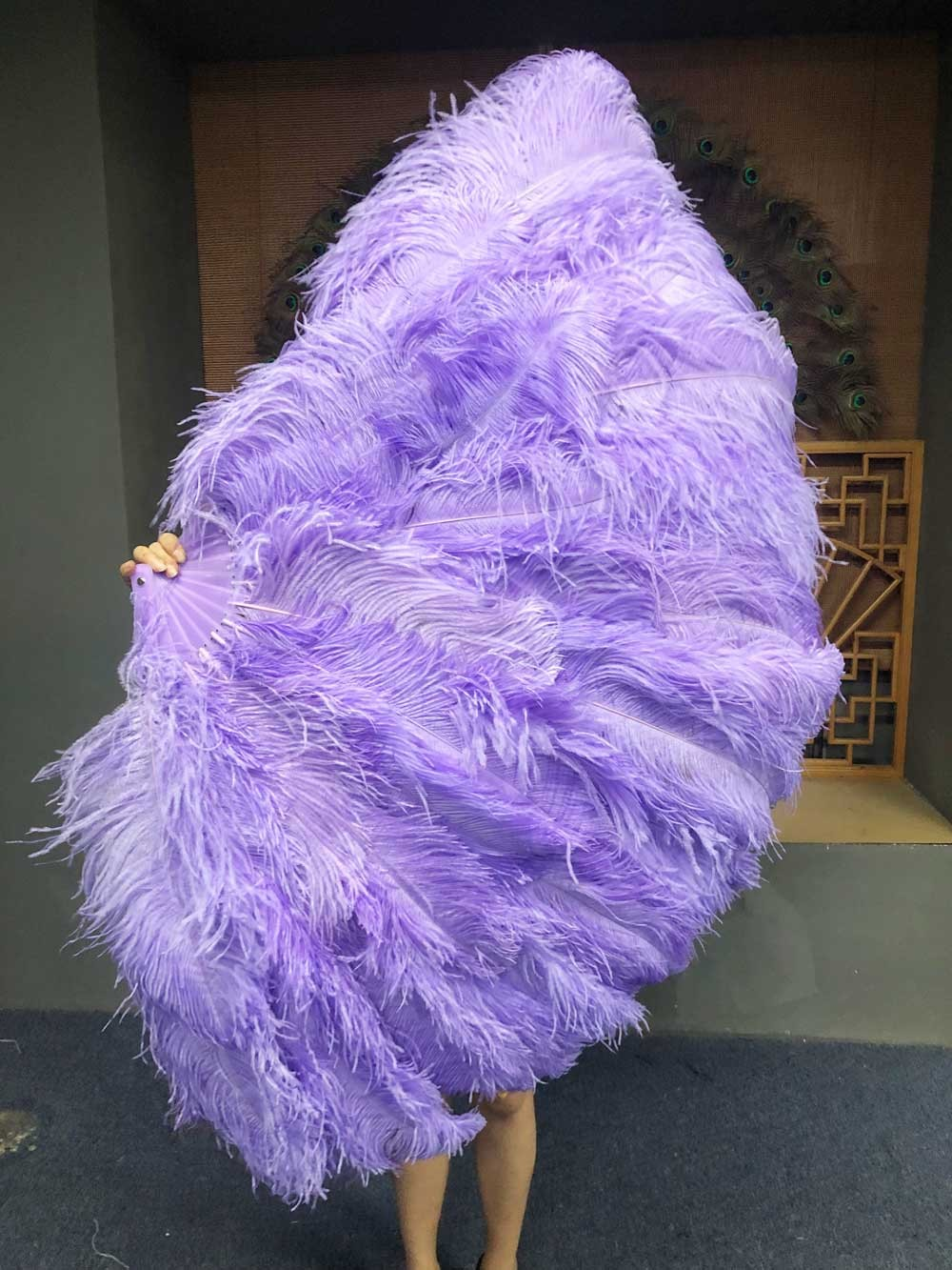 XL 2 Layers hot pink Ostrich Feather Fan 34/'/'x 60/'/' with Travel leather Bag