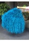 """Burlesque Blue Waterfall Fan Fluffy Ostrich Feathers Boa Fan 42""""x 78"""""""