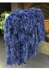 "Burlesque navy Waterfall Fan Fluffy Ostrich Feathers Boa Fan 42""x 78"""