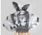 Black / white Open Face Ostrich Feather Headdress Backpiece Set