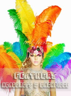 showgirl feather headdress